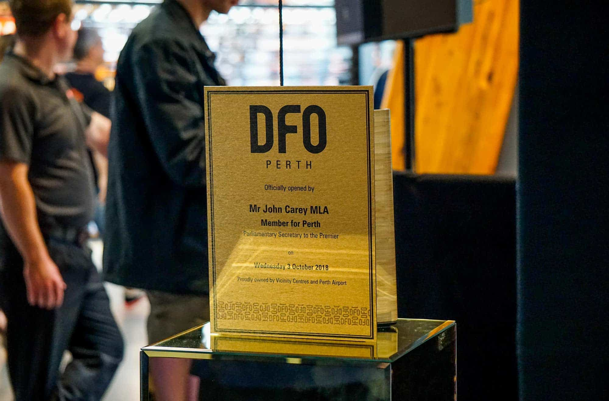 DFO Perth Airport Opening