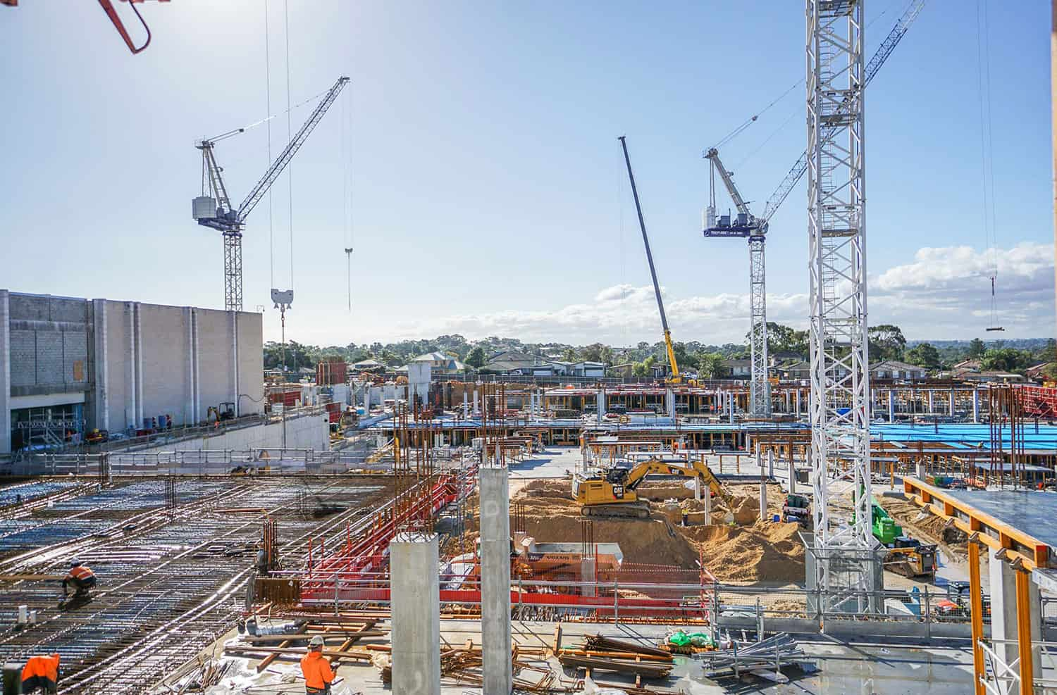 Karrinyup Shopping Centre construction